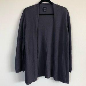 Purple/gray Eileen Fisher open cardigan